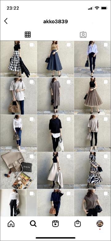大人系女性ファッションのインフルエンサー